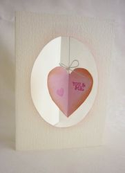 Free 3D heart card template