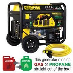 $1,299 Champion Dual Fuel Portable Generator