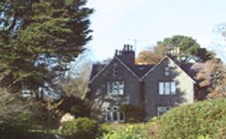 View of tremfan from the gardenst