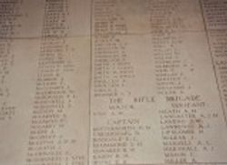 Name of Christopher Soden on the Menin gate