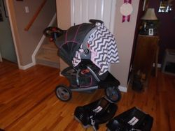 Baby Trend Range Jogger Travel System- Stroller, Car Seat, Bases - $130