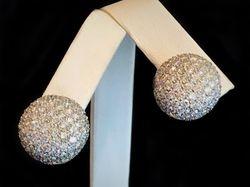 Diamond Pave 5.5ct earrings
