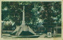 Confederate Monument in 1920s