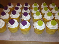 Wedding Cupcakes, Wedding colors, With Initial