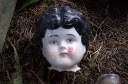 Ceramic doll head