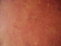 close-up troweled finish