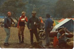 1980 Alpine Rally @ Perkins Flat - Jeff's wife Lindy Rosenstraus