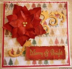 Frayed Poinsettia Flower Card