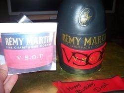 Remy Martin VSOP Cognac Bottle Cake
