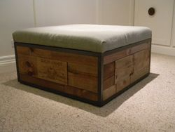 UNIQUE WINE BARREL OTTOMAN