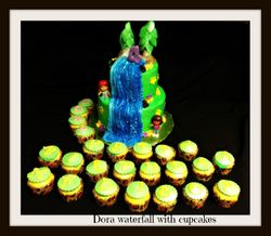 Dora Water fall with Cupcakes
