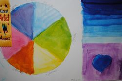 Beginner Watercolor technique demonstration