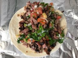 Brisket Taco with Pico De Gallo