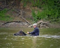 David and DP in the Big Pee Dee River