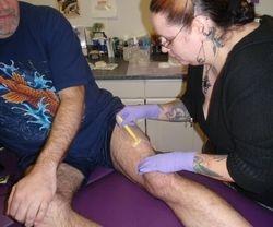 Shaving Sherm's Sexy Leg!