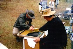1999 The art of screen printing, Henning and Nugget from Goulburn