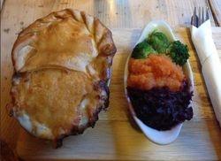 The Coppa Dolla Inn, Broadhempston, Devon - The famous 2 in 1 Pie