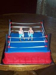 Wrestling Arena Cake