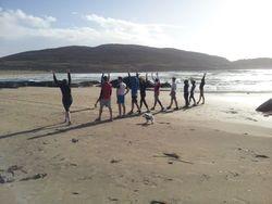 Fresh oxygen and Autumnal sun on Derrynane Beach