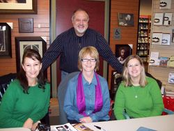 During book signing of Shelley Shepard Gray, Vanetta Chapman and Amy Clipston