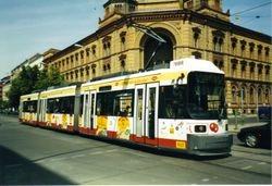An AEG tram on Oranienburgerstrasse.
