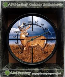 Whitetail-Lightning Metal Thermometer