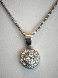 1ct diamond pendant in 14k