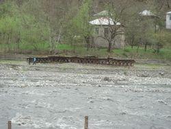 The old bridge over  the river Tskhenisckhali