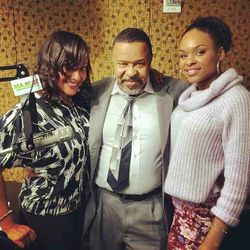 Cannon, Silas Alexander & Demetria McKinney at Majic 107.5/97.5FM radio station in Atlanta.