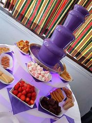 Coloured chocolate fountain hire. Whats your colour !
