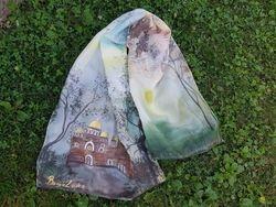 Hram Hrista Spasitelja, Helena Mijatovic  slikar na svili