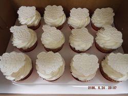 fondant lace topper cupcakes $4 each