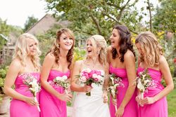 Elle and her pretty bridesmaids