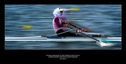 Soulmaz Abbasiazad of Iran-Women's Single Sculls London Olympic 2012-Eton Dorney-England
