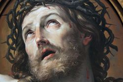 Reni, Head of Christ, detail, Detroit