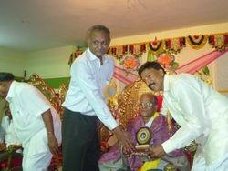Balla China Kameswara rao was honored