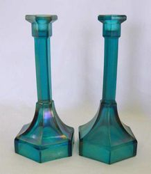 "Chesterfield 9"" candlesticks - teal"