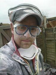 James looking dusty