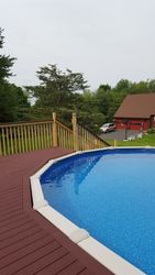 Massive deck Install North Granby Pool