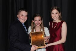Receiving our award with super volunteer and friend Sarah