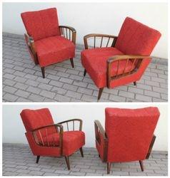 Vintaziniai foteliai. 2 vnt.1950 m. cocktail chair stiliaus. Kaina po 137 Eur.