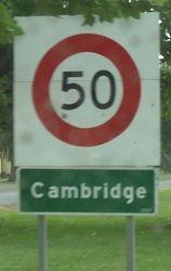 Entering Cambridge!