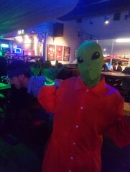 Area 51 Alien with Naruto Raider in Background
