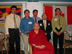 DCG board with Katri Samdhong Rinpoche