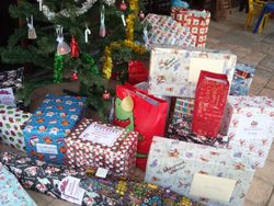 Presents waiting to be opened