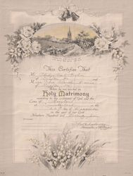 Marriage Record for Philip Carl Fisher and Cora Blanche Norris