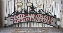 #21/005 Metal Sign Ferronnerie