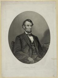 Lithograph of Lincoln