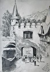 Entrance to Reichsburg Castle, Cochem