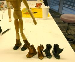 "Puppet Shoes for ""The Borrowers"""